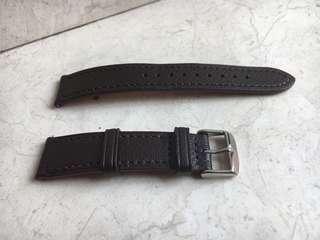 20mm Brown Soft Genuine Leather Strap