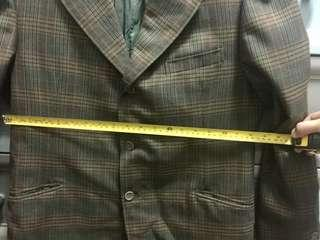 Imported Checkered Gray Coat