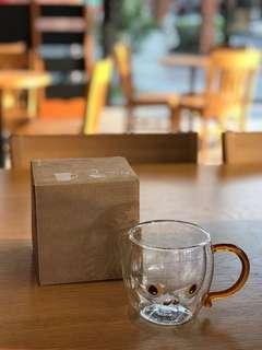 星巴克Starbucks 石虎 雙層玻璃杯