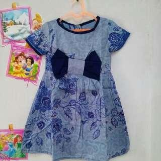 Dress batik Anak asli solo