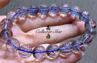 10mm藍超七藍髮晶