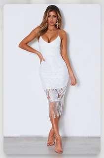 White fox dress