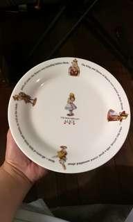 alice in wonderland plate 9in.