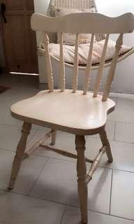 White painted wooden country style chair