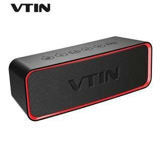 VTIN Wireless Portable IPX6 Waterproof Outdoor Bluetooth Speaker [ BASS+ TECHNOLOGY ]
