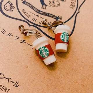 Starbucks Earrings 耳夾