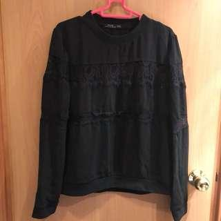 (New) Bershka black lacy top / sweater