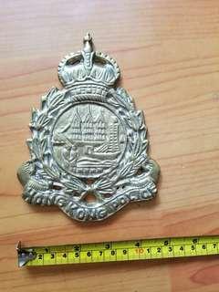 50年代香港警察(男皇冠)銅製大章