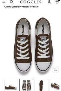 Converse Women's Chuck Taylor All Star Dainty Seasonal Leather Ox Trainers - Chocolate/White/White
