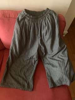 🚚 日本品牌條紋寬褲