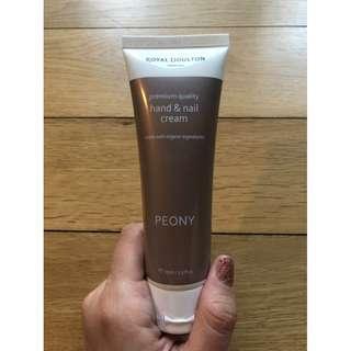ROYAL DOULTON London Premium 'Peony' Quality Hand & Nail Cream 75ml!