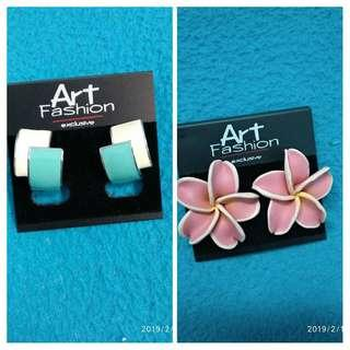 #Bapau Anting-anting Buy blue get pink earring