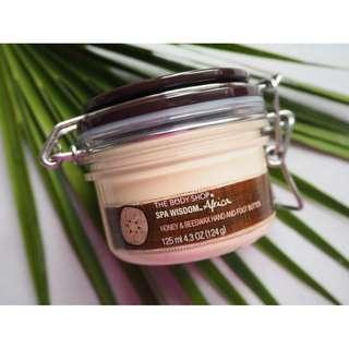 THE BODY SHOP 'Spa Wisdom Afrique' Honey & Beeswax HAND & Foot Butter 125ml!