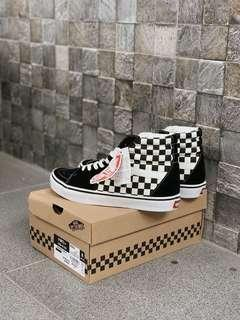 Vans Sk8-Hi Checkerboard B&W Japan Market Ori