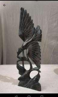 sculpture wood bird siadja indonesia bali