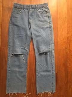 Denim Slit Jeans #EndgameYourExcess