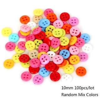 10mm Mixed Color Button