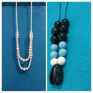 #Bapau Kalung Fashion buy mutiara pink get blue necklace