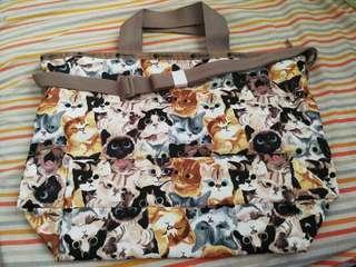 LeSportsac 貓貓帆布袋 日本限定 新鮮熱辣剛落機