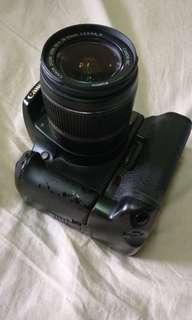 Canon 1000d with battery grip