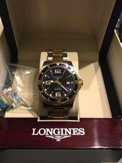 LONGINES 浪琴 深海征服者300米潛水機械腕錶-藍x雙色版/41mm