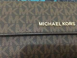 michael kors wallet - color signature brown
