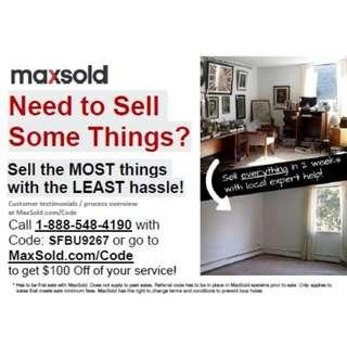$100 Off Your First MaxSold Auction