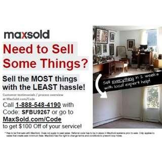 $100 Off Your First MaxSold Service!