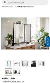 Ikea mirror - KARMSUND (black)