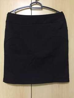 🚚 Black Office Skirt with 2 Front Pocket