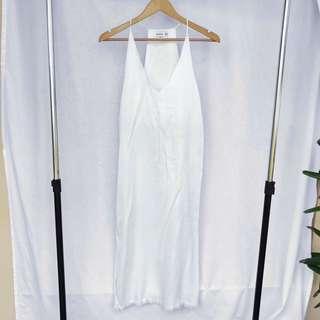 White Bohemian Style Midi-Dress