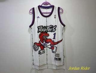Jordan Rider 喬丹騎士 adidas NBA HWC Swingman Tracy McGrady T-Mac 多倫多暴龍隊 復古大暴龍主場球衣 Toronto Raptors Home Jersey