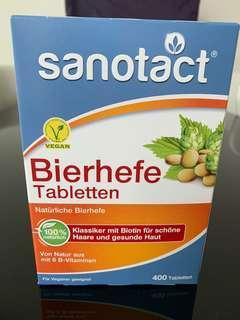 德國 Sanotact Bierhefe啤酒酵素片400粒