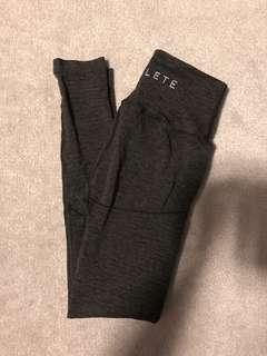 Alphalete Revival Leggings - Marled Shale - Size small