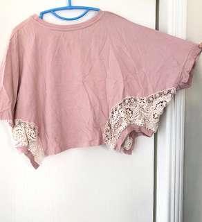 粉紅蝙蝠袖鬆身上衣Pink Top