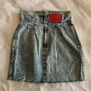 Prezzia Vintage denim high waist skirt