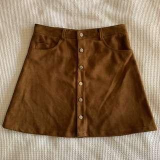 Pull & bear chamois leather skirt