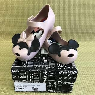 🚚 PL Mini Melissa Ultragirl + Disney Twins II Pink / Black Shoes US9 (2017)