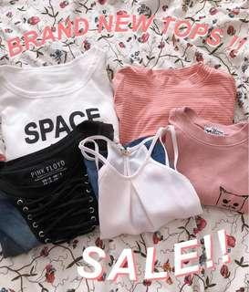 SALE!! CROP TOPS AND SHIRTS !!