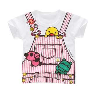 Printed Cute Kids T-Shirt 100% Cotton Round Neck Short Sleeve for Girls