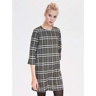 Zara Checked Pearl Dress
