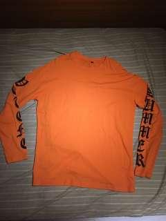 橘色長t   歌德字   M號
