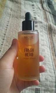 Fresh herb origin serum
