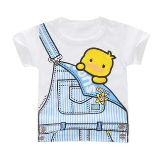 Printed Cute Kids T-Shirt 100% Cotton Round Neck Short Sleeve for Boys 2-5 years