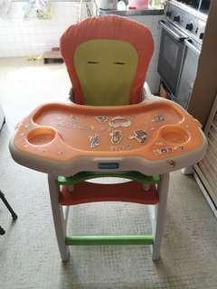 High chair cum working table