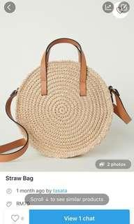 Straw Bag...H&M brand....new