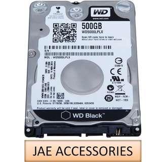 """WD Black 2.5"""" 7200RPM 32MB Cache SATA Internal HDD 500GB"""