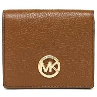 572398cf0d7666 NEW ARRIVAL Michael Kors Fulton Pebble Leather Carryall Card Case Wallet