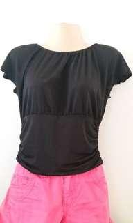 Banded Waist Top in Black