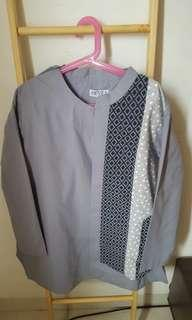 HEVÈA Ethnic Top grey